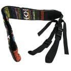 Creative Ethnic Style Canvas Camera Strap - Black + Multicolored