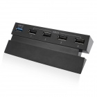 DOBE TP4-006 1 x USB 3.0 + 4 x USB 2.0 Hub for PS4 Game Console - Black