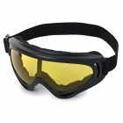Outdoor Multi-Functional UV Protection Sporty Goggles - Black + Translucent Yellow