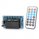 "2.0"" LCD MP3 Bluetooth Decoder Board w/ FM, USB, SD - Blue + Black"