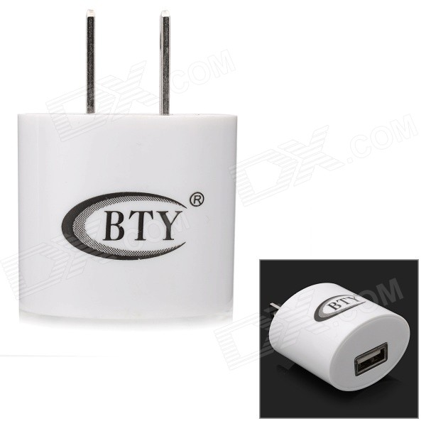 BTY-M506 USB AC Power Adapter - White (US Plugs)