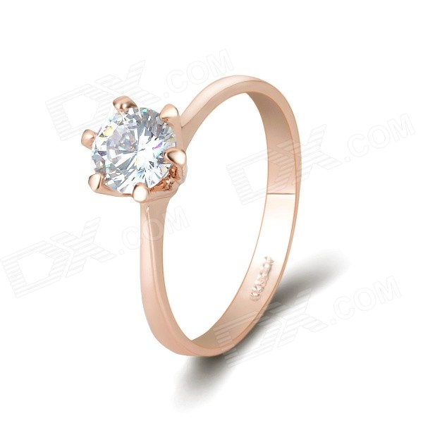 KCCHSTAR Gold-Plated Diamond Ring- Golden (US Size 8)