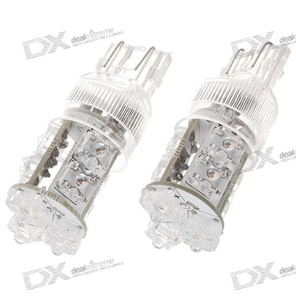 D1309 1.5W 48-Lumen 9-LED Car Red Light Bulbs (Pair/DC 12/24V) new h1 55 w 3000 k super bright car yellow light bulbs pair dc 12 v free shipping