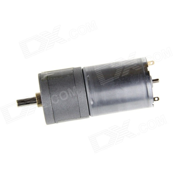 25GA 25mm 12V 10RPM Powerful High Torque DC Gear Box Motor Replacement Motor - Grey