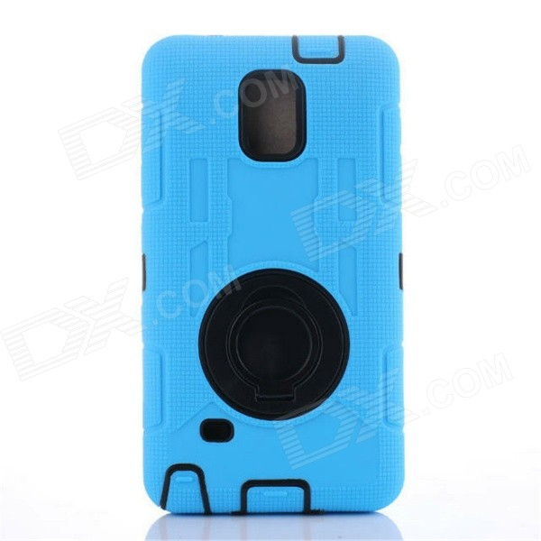 TPU Back Case Cover Armor or Samsung Note 4 N910 - Blue + Black