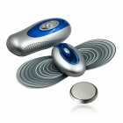 Multi-functional W-R Control Massager Therapy Machine - Grey + Sapphire Blue (2 x CR2032)