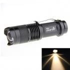 UltraFire SK68 XP-E Q5 100lm 1-Mode Warm White Zoomable LED Flashlight - Black (1 x 14500)