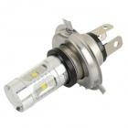 H4 / P43T 30W XP-E LED Car Foglight White Light 7000K 400lm - Silvery White + Silver (DC 12~24V)