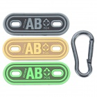 Creative AB Blood Type Arm-badge + Buckle Set - Black + Multi-Color