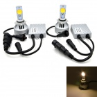 JMT-4HL-9006 9006 36W LED Car Headlight Warm White 3200lm 3500K (2PCS)