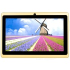"AVOSD Q88D-G 7"" Dual-Core Android 4.4 Tablet PC w/ 4GB ROM, Wi-Fi, Bluetooth, TF - Yellow (US Plug)"