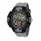 VILAM 09009 Men's Sports Waterproof PU Band Analog + Digital Wrist Watch w/ EL Light (1 x 626)