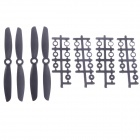 Nylon Prop Propeller Blade CW / CCW for Mini Quadcopter - Black (2 Pairs)