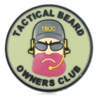 EDCGEAR Tactical Beard Pattern Velcro Arm-badge - Black + Red + Multi-Color