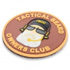 EDCGEAR Tactical Beard Pattern Velcro Arm-badge - Brown + Yellow
