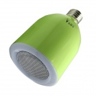 WaLangTing E27 800lm 6500K White LED Bulb + Wireless Bluetooth Speaker w/ RF Remote Control - Green