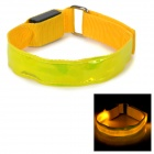 SENCART Outdoor Sports Cycling LED 3-Mode Yellow Light Nylon Safety Armband - Yellow (2 x CR2032)