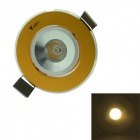 WaLangTing 1W 3200K 110lm Warm White Light LED Ceiling Lamp w/ Driver - Golden (AC85~265V)