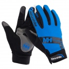 NatureHike Anti-Slip Wind-Resistant Warm Full-Finger Touch Screen Cycling Gloves - Blue + Black (M)