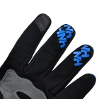 NatureHike Full-Finger Touch Screen Cycling Gloves - Blue+ Black (M)