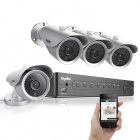 SANNCE 4CH 960H HDMI DVR System w/ 4 x 700TVL Waterproof Outdoor Day/Night Bullet Cameras (US Plug)