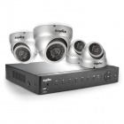 SANNCE 4CH 960H HDMI DVR System w/ 4 x 800TVL Indoor Day / Night Dome Cameras (US Plug)