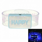 SENCART Happy LED Blue Light Flashing Bracelet Prop Toy - White + Blue (3 x AG13)