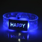 SENCART LED feliz azul Luz Flashing Bracelet Toy Prop (3 * AG13)