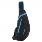 NatureHike Outdoor Sports Water Resistant Nylon One-Shoulder Messenger Bag - Black + Blue