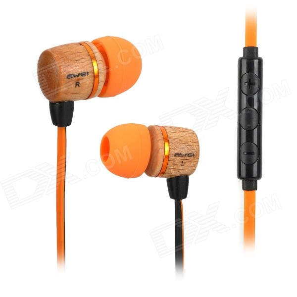 AWEI ES-16Hi 3.5mm In-ear Headset for Android Phone - Orange + Black