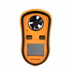"RZ8908 1.5"" LCD Digital Wind Speed Meter Anemometer - Black + Orange (1 x CR2032)"