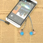 AWEI ES-16Hi 3.5mm Headphones for Android Phone - Dark Blue + Black