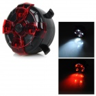 200lm 4-LED 3-Mode White + Red Bicycle Bike Light Lamp - Black + Red (2 x CR2032 )