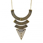 Women's Fashionable Exotic Style Hollowed Chunky Pendant Necklace - Golden