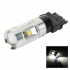 SENCART 3157 30W XP-E Q5 LED Car Brake Light White 6000K 400lm - Silvery White + Black (DC 12~24V)