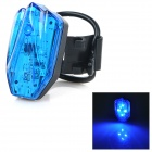 HJ-031 USB Rechargeable 100lm 4-Mode Blue Light LED Warning Tail Lamp for Bicycle - Blue + Black