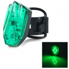 HJ-031 USB Rechargeable 100lm 4-Mode Green Light LED Warning Tail Lamp for Bicycle - Green + Black