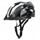 NUCKILY Bike Bicycle PC + EPS Safety Helmet for Cycling - White (L)