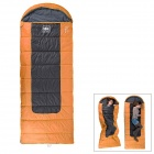 NatureHike Outdoor Camping Envelope Style Lengthened Warm Sleeping Bag - Orange + Black