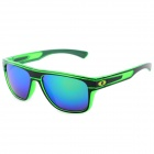 Outdoor Travel PC Frame PC Lens UV400 Protection Sunglasses - Green + Black + Green REVO