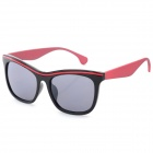 Women's Fashionable PC Frame PC Lens UV400 Protection Sunglasses - Black + Red + Grey