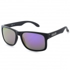 Fashionable TR90 Lens Polaroid Polarized Lens UV400 Protection Sunglasses - Black + Purple REVO