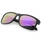OREKA TR90 Frame Polarized Lens UV400 Sunglasses - Black + Purple REVO
