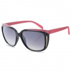 DY782 Women's Fashionable PC Frame PC Lens UV400 Protection Sunglasses - Black + Red + Grey