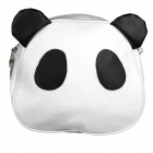 Women's Lovely Panda Style PU Leather Shoulder Bag - White + Black