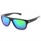 Outdoor Sports PC Frame PC Lens UV400 Protection Sunglasses - Black + Green REVO
