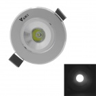 WaLangTing 1W Ceiling Lamp White Light 6000K 110lm LED w/ Driver - Silver (AC85-265V)