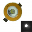 WaLangTing 1W Ceiling Lamp White Light 6000K 110lm LED w/ Driver - Golden (AC85-265V)