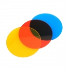 EOSCN SN-21 Red + Blue + Yellow Glass Snoot Color Filter Kits for SN-08 SN-11