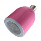 WaLangTing E27 5W 32-LED Bulb Cool White w/ Wireless Bluetooth Speaker + Remote Control - Deep Pink
